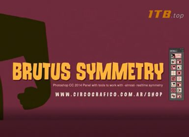 ps镜像辅助对称插件 AD Brutus Symmetry v1.7 For Photoshop Win/Mac