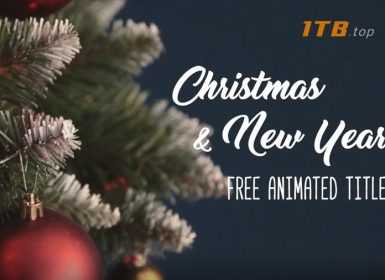 ae模板-圣诞节新年主题动画Free christmas and new year titles pack